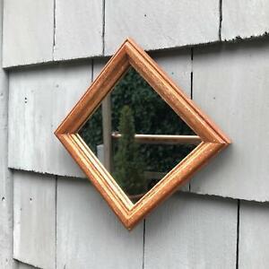 "6"" Hardwood Frame Home Interiors Small Square Mirror"