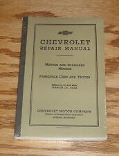 1933 Chevrolet Master & Standard Model Car Truck Repair Shop Manual 33 Chevy