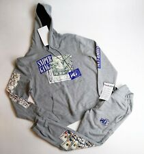 Sniper gang mens 2p set L/S Hoodie and pants 100%AUTHENTIC size Medium gray