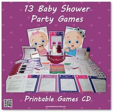 Baby Shower Party Games CD  -  SAVE £'s BY PRINTING YOURSELF  -  13 games!