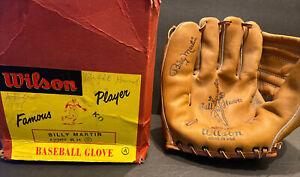 EXCEPTIONAL BILLY MARTIN UNUSED WILSON BALL HAWK A2287 BASEBALL GLOVE~~IN BOX~~