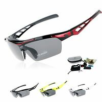 EOC Polarized Cycling Glasses Bike Goggles Fishing Sunglasses UV400 5 Lens ST808
