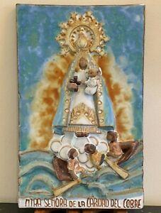 Virgen de la Caridad (Virgin of Charity) Religious Pottery Sculpture Statue