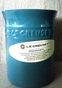 LE CREUSET Stoneware Utensil Jar 15 x 12.5cm NEW Deep Teal