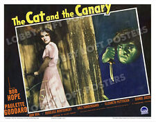THE CAT AND THE CANARY LOBBY SCENE CARD # 2 POSTER 1939 PAULETTE GODDARD