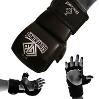 GK 8oz sparring MMA Gloves UFC Grappling Fight Boxing Punch Bag Training leather
