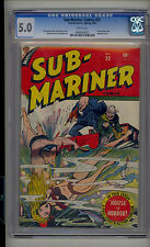 Sub-Mariner #22 CGC 5.0 VG/FN Marvel Young Allies WHITE Pages Looks 7.0+