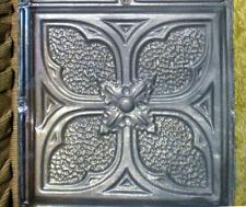 Antique Victorian Ceiling Tin Tile Gothic Quatrefoil Flower Shabby Chic