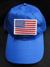 bb5626f16ce23 Nike Golf no estructurados Royal Sarga Papá Sombrero Con Borde Blanco  Parche Bandera Americana