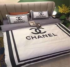 Bettwäsche Queen Bettbezug 4tlg Kissenbezug Warm 180x200 Chanel Boxspring 160 E