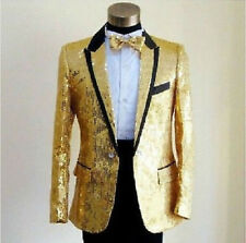 Mens Bling Sequins Tuxedo Suit&Pants Gangnam Style Psy Jacket Coat Clothing