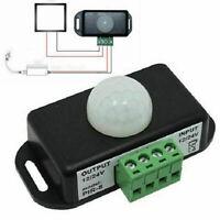DC 12V-24V Automatic 8A Infrared PIR Motion Sensor Detector Switch For LED Light