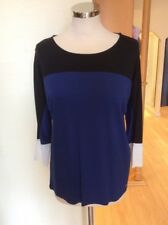 Gerry Weber Top Size 18 Black Blue Cream Now