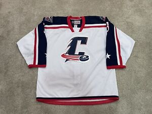 Cleveland Monsters Authentic Game Worn Used AHL Friday Affiliate Jersey Peeke 56