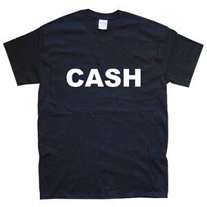 JOHNNY CASH T-SHIRT sizes S M L XL XXL colours Black, White