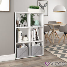 VICCO Raumteiler - 6 Fächer Regal Bücherregal Standregal Hochregal Weiß