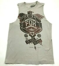 Fox Racing Cut Off Shirt Gray Tank Top Men's Size Small S Gym Sleeveless Loose