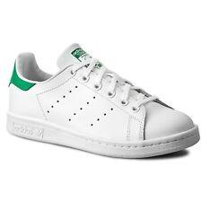 Scarpe adidas Stan Smith Uomo Sneakers Tg 40 in Pelle Bianco-verde