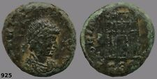 Theodosius I the Great, Roman Coin Military Camp Gate, Small Coin Great Detail!
