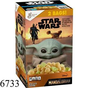 Star Wars The Mandalorian Baby Yoda Cereal 2 Bags Each Box 33oz Limited Edition!