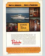 1966 PAPER AD Pembroke Motor Boats 32 Cabin Cruiser New Hampshire