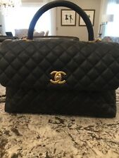Chanel CoCo Bag. Medium Black Caviar with Box and receipt from Chanel
