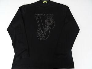 Versace Jeans Herren Shirt Langarm Gr.L Schwarz