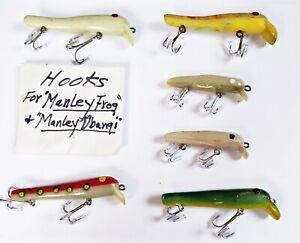 Ultra Rare Set Of 6 Manley / Bamford Ubangi Frog Tadpole Lures THE BOOK EXAMPLES
