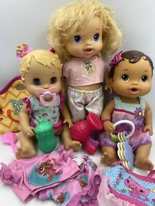 Baby Alive Doll Lot Clothes Accessories Beautiful Now, Bitsy Burps, Sip N Slurp