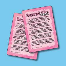 """Beyond The Dash"" - Poem - 2 Inspirational Verse Cards - sku# 857"