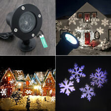 Field LED Moving Snowflake Laser Light Projector Lamp For Xmas Party Decor - UK