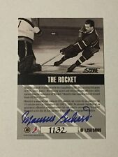 1992 Maurice Richard The Rocket Score Auto 1132/1250 Rare SP Montreal Canadiens