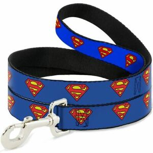 Buckle-Down Superman Shield Blue Pet Collar