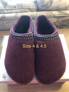 Maroon Indoor Outdoor Slipper Size 4 1/2