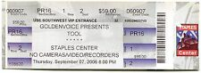 TOOL 9/7/2006 10,000 Days Tour Concert Ticket!! Los Angeles,CA 2006 #4 STAPLES