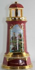 "Elegant Pink & Gold Thomas Kincaid Victorian Light Lighthouse Nightlight Lamp 8"""