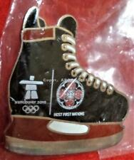 2010 OLYMPICS FOUR HOST NATIONS VANCOUVER HOCKEY SKATE in Bag Pin
