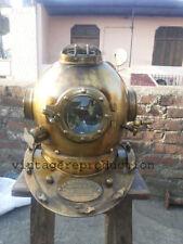 """Antique US Navy Scuba SCA Maritime Divers Diving Helmet Mark V Deep Sea Full 18"""""""