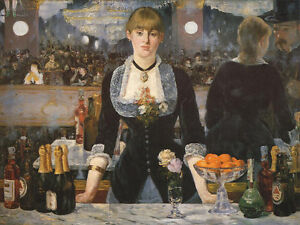 Edouard Manet Bar at the Folies-Bergere Vintage Wall Art Poster Print Picture