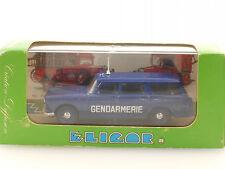 Eligor 1139 Peugeot 404 Gendarmerie 1964 Polizei Frankreich MIB OVP 1410-26-06
