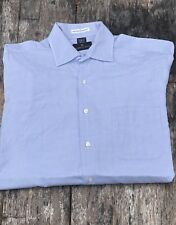 Men's FERRELL REED McTeague Pinpoint MADE IN AMERICA Button Front Shirt 15.5/32
