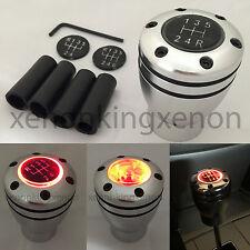 JDM Manual Transmission RED LED Light Silver Sport Gear Stick #t13 Shift Knob
