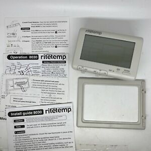 RITETEMP THERMOSTAT 7 DAY PROGRAMMABLE TOUCH SCREEN - MODEL 8030