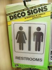"""""""Restrooms"""" Deco Sign Self-Adhesive"""
