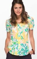 Lilly Pulitzer Jonni Lilly's Pink Lilet Floral Button Down Top Size 2 Shirt S