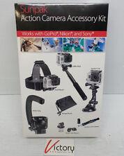 New Sealed Sunpak Action Camera Accessory Kit GoPro Nikon Sony Accessories Mount