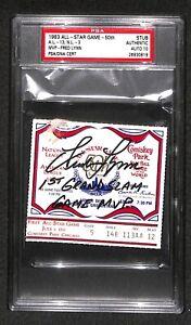 """1983 MLB ALL STAR GAME MVP FRED LYNN SIGNED TICKET """"GRAND SLAM"""" PSA/DNA GRADE 10"""