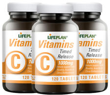 Lifeplan Vitamin C 1000mg Time Release - 3 x 120 Triple Pack