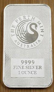 1oz Australian Silver Swan / Kangaroo Bar - Perth Mint .9999 Fine