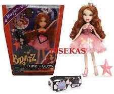 Bratz Funk N Glow Doll Meygan Light Up Party Dress 3D Glasses Tiara Purse NEW